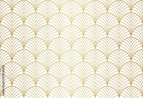 Foto auf Leinwand Künstlich Art deco seamless pattern. Abstract vector background. Geometric elegant texture.