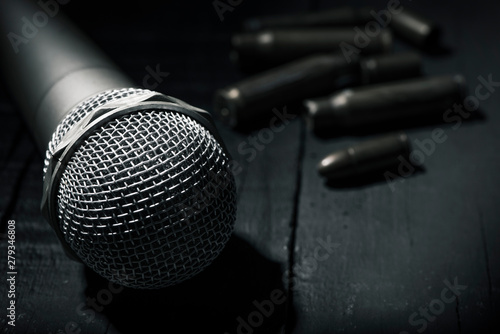 Photo microphone and bullets