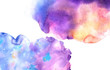 Abstract colorful watercolor background for graphic design, hand painted on paper