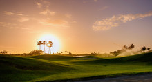 Golf Course At Sunset On Grand...