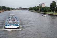 Ship At Dutch Amsterdam Rijn C...