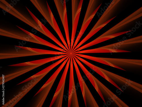 Red Star Patterns, Abstract Illustration, Symmetrical Geometric Star Patterns, Black Background, Graphic Resource