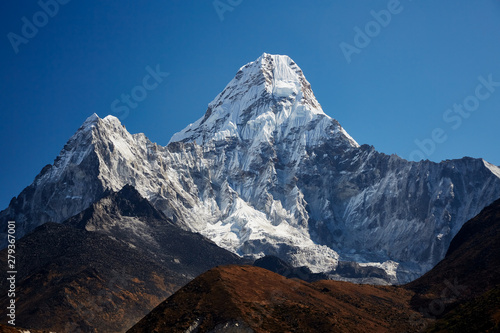Fotografie, Obraz  The Ama Dablam massif against the blue sky on beautiful sunny day