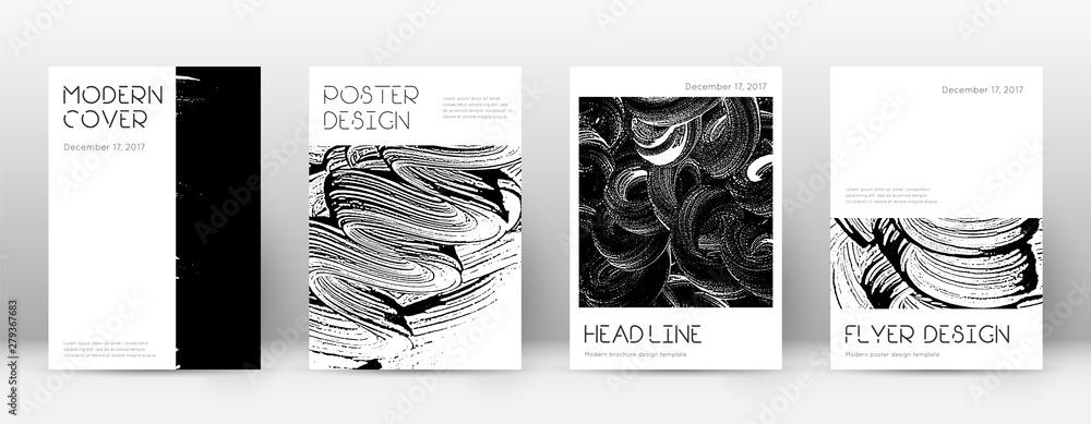 Fototapeta Cover page design template. Minimal brochure layou