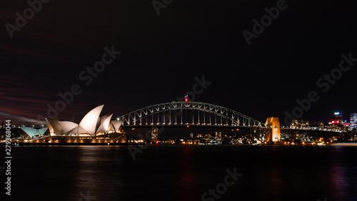 Deurstickers Australië Sydney Opera House and Harbour Bridge