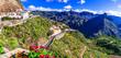 Leinwanddruck Bild - Impressive Artenara  - Gran Canaria's highest mountain village. Grand Canary, Canary islands of Spain