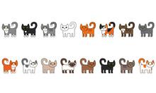 Various Cats Seamless Border S...