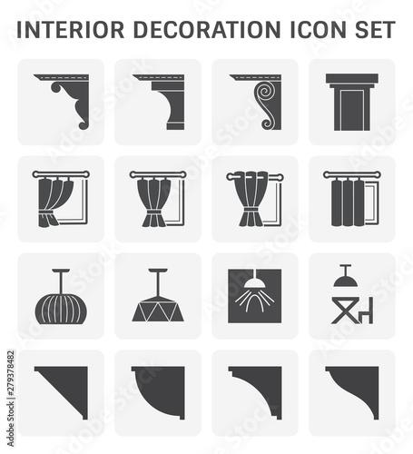 Wallpaper Mural interior decoration icon
