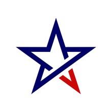 Pentagram Star Logo Template Illustration Design. Vector EPS 10.