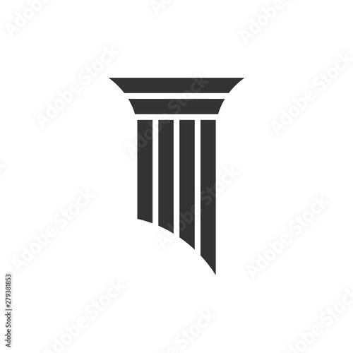 Cuadros en Lienzo  Pillar Logo for Lawyer Firm Illustration Design. Vector EPS 10.