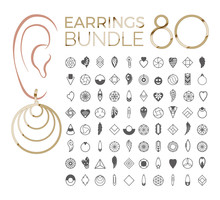Vector Designs Of Earring