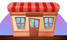 Street Shop Concept Banner. Ca...