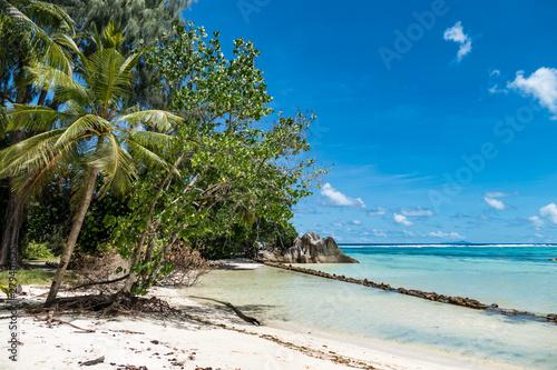 Printed kitchen splashbacks Zanzibar seychellen la digue anse source d argent traumstrand