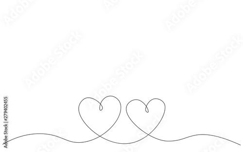 Fotografia  Hearts background, love day card vector illustration