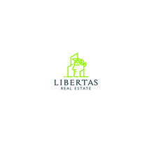 Best Original Logo Designs Inspiration And Concept For LIBERTAS REAL ESTATE By Sbnotion