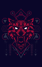 Wild Wolf Head Logo Illustrati...