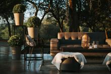 Armchairs And Garden Table Ado...