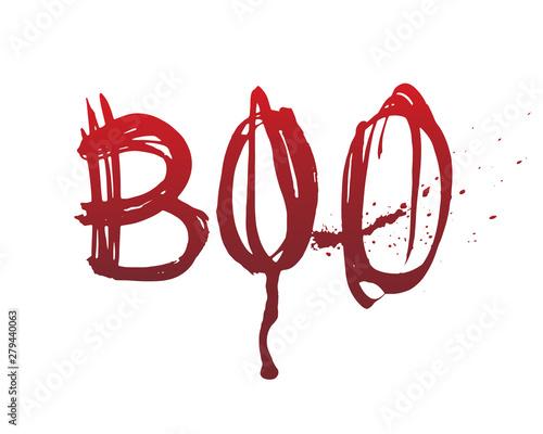 Fotografie, Obraz  Hand drawn boo bloody lettering