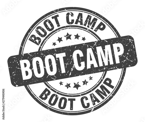 Fotomural  boot camp stamp. boot camp round grunge sign. boot camp