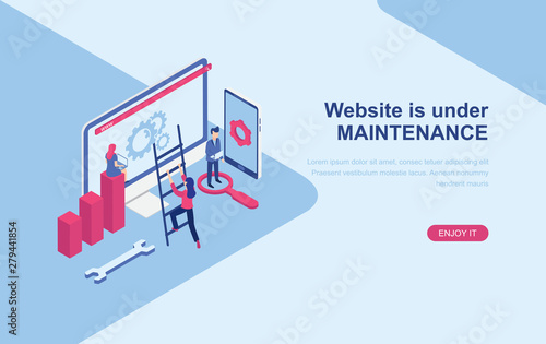 Fotografia Website under maintenance page