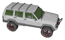 White Jeep Cherokee, Illustrat...