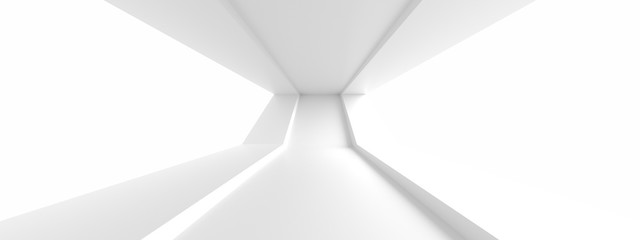 Minimal Architecture Design. White Industrial Wallpaper