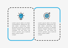 Infographic With Business Icons And 2 Steps. Vector
