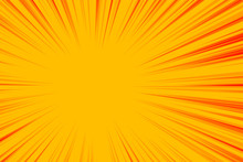 Abstract Yellow Zoom Lines Empty Background