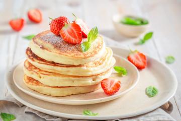 Delicious american pancakes...