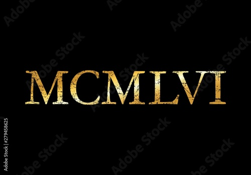 MCMLVI 1956 Roman (Ancient Gold) Wallpaper Mural