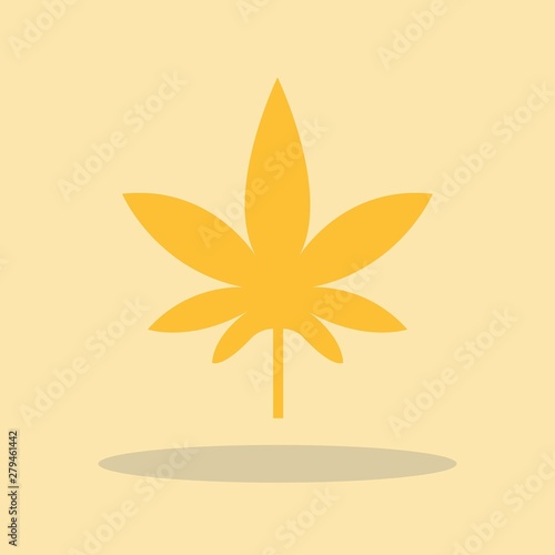Fényképezés  Weed vector icon illustration sign