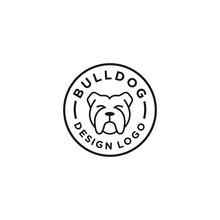 Bulldog Logo Vector Design Tem...