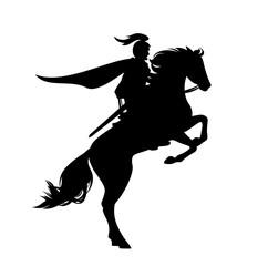 medieval knight riding a ho...