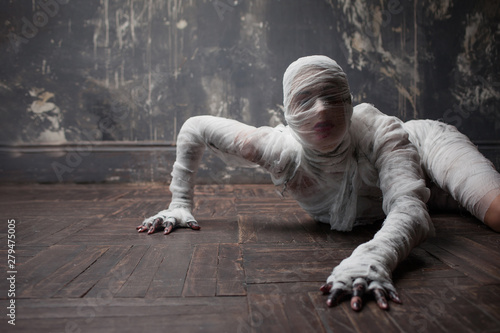 Scary mummy creeps on you Wallpaper Mural