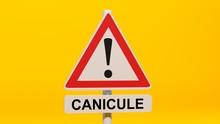 Panneau Danger Canicule Sur Fo...