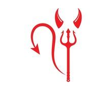 Devil Horns Logo Icon Vector I...