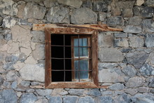 Old Window In Old Stone Wall