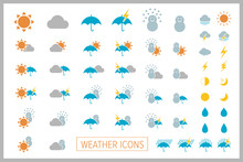 Set Of Simple Weather Icons. V...