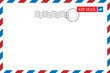 Blank vintage post card template with stamp.vector illustration