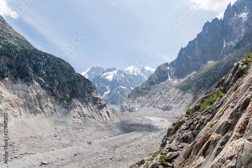 Glacier nommé la mer de glace à Chamonix Canvas Print