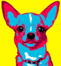 Illustration Of A Dog In Pop...