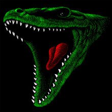 The Vector Logo Dragon Or Dino...