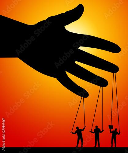 Fototapeta  puppets on a string