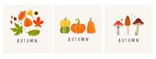 Autumn Mood. Set Of Three Colo...