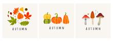 Autumn Mood. Set Of Three Colo...