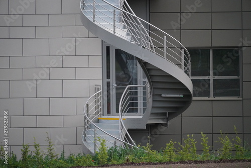 Spiral Fire Escape Stairs Fototapeta