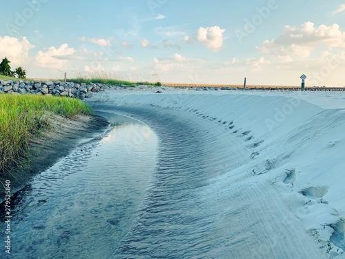 Amelia Island Florida Low Tide Wallpaper Mural