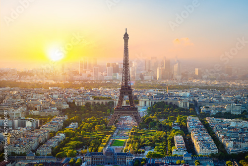 Fotografie, Obraz  Aerial view of Paris