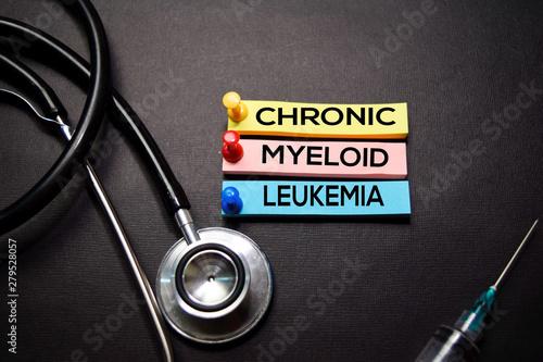 Fényképezés Chronic Myeloid Leukemia text on Sticky Notes