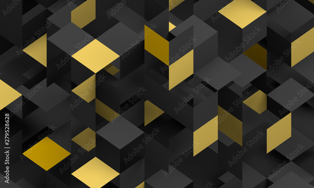 Fototapeta Abstract 3d render, modern background design with geometric shapes